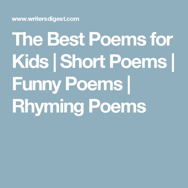The Best Poems for Kids | Short Poems | Funny Poems | Rhyming Poems