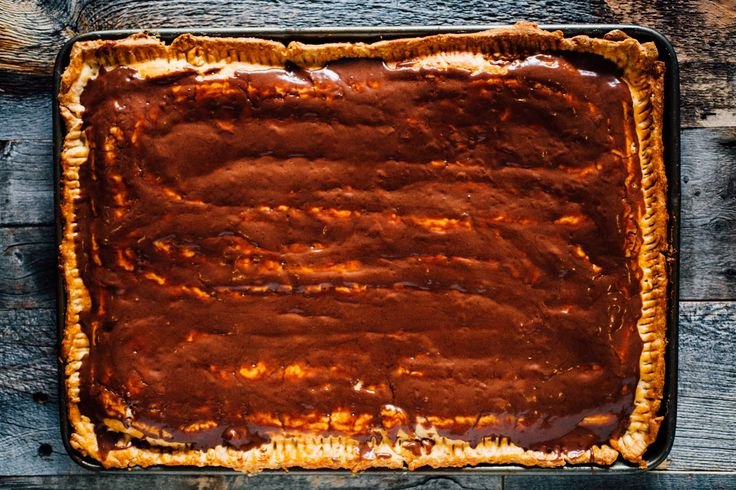A giant s'mores Pop-Tart made with homemade marshmallow fluff and a rich chocolate filling.