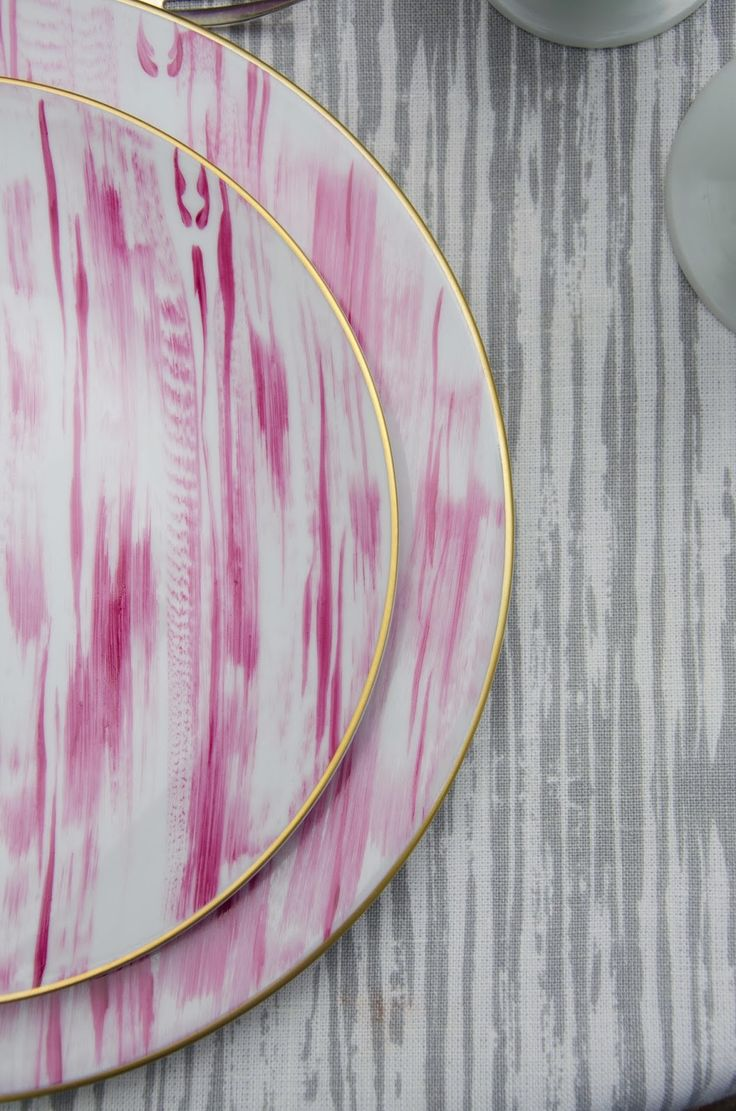 So chic- Cyclamen on the matching Pearl Thomas fabric. The Devine Life