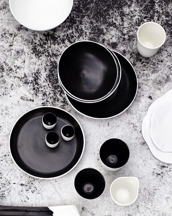 black & white = love #b&w #colors #layout Ceramics in Black and White | Andrei Davidoff