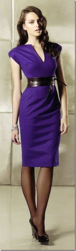 Classy and sassy in purple                                                                                                                                                                                 Mais