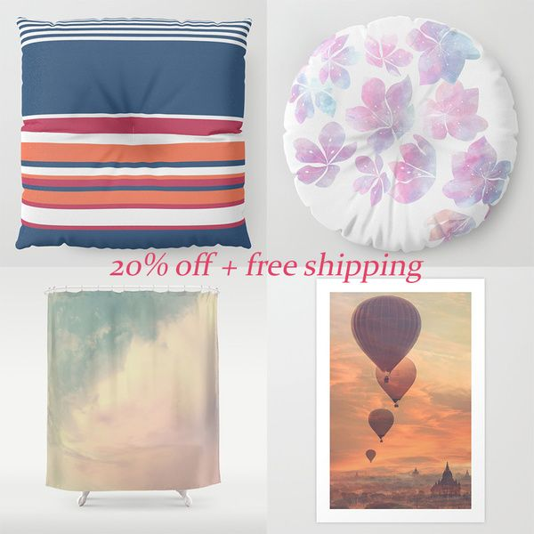 20% off on all  products + free shipping