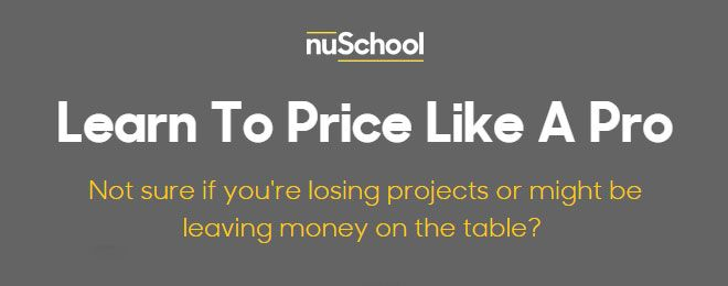 An awesome new tool for freelancers, that I just found! Might work for you too! So what is it all about? Let's say you have a new client and you need to make a proposal for a design project, but you are not sure how much money you should charge. nuSchool has 5 questions that …