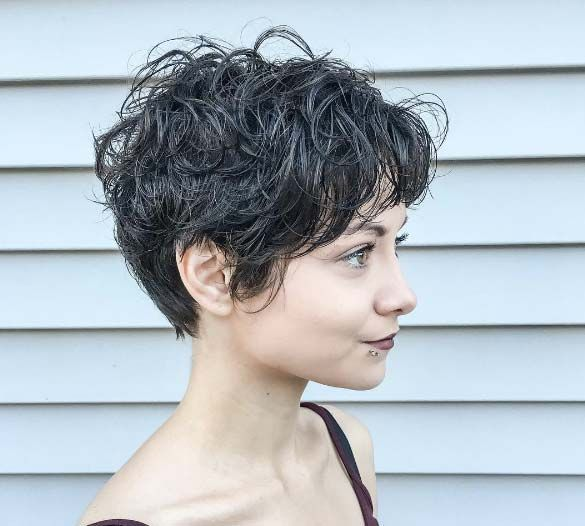 Best 25+ Curly Pixie Hairstyles Ideas On Pinterest
