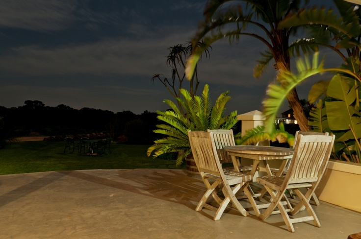 Front Patio at night - Dune Ridge Country House, St Francis Bay. www.duneridgestfrancis.co.za