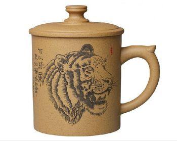 Free shipping!!! Purple grit cups handmade YIXING purple clay cup tea set  480ML