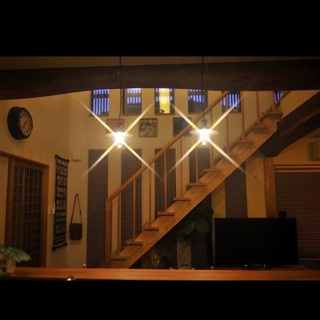 Zubekeさんの、デジイチ,SEIKOSHA,古道具,ウンベラータ,吹き抜け,レコードジャケット,バスロールサイン,後藤照明,ケヤキ梁,リビング,のお部屋写真