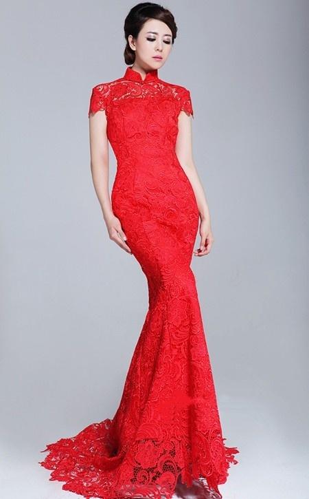 Chinese Red Wedding Dress/Qipao/cheongsam