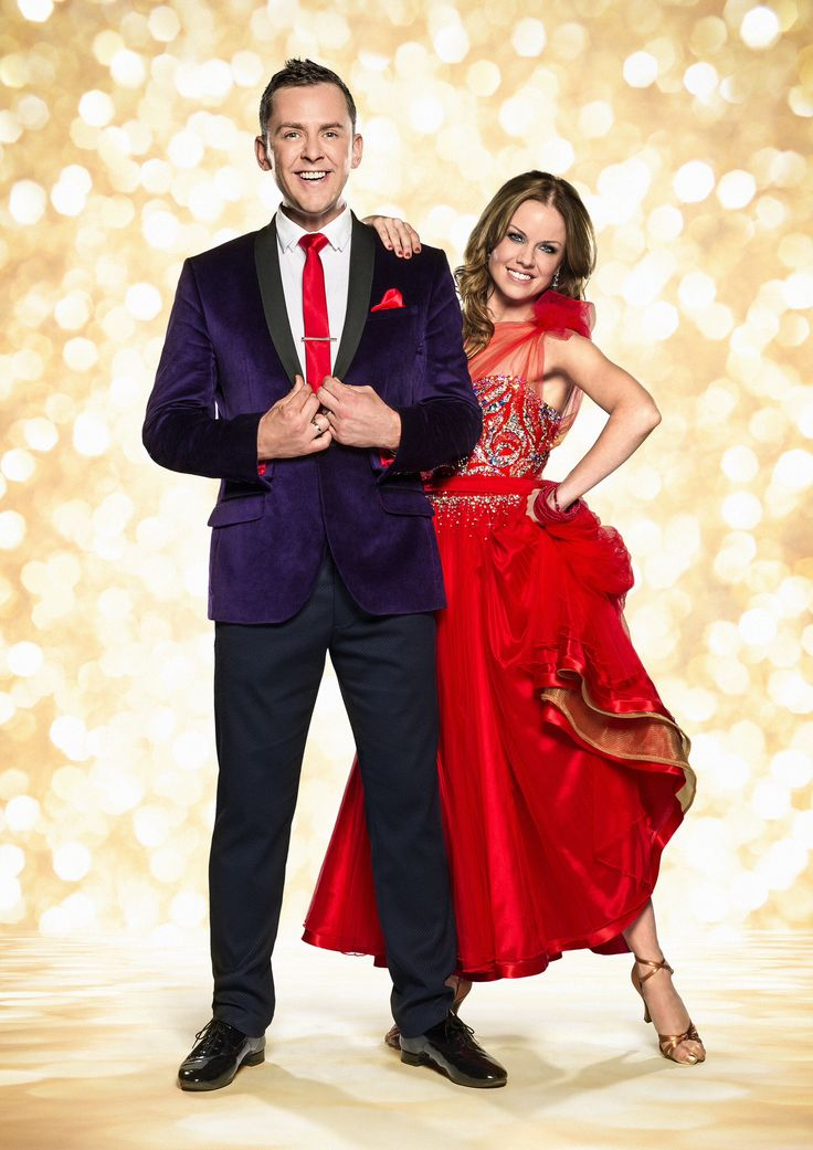 Scott mills (radio1dj) and Joanne Clifton, strictly come dancing 2014 official photo