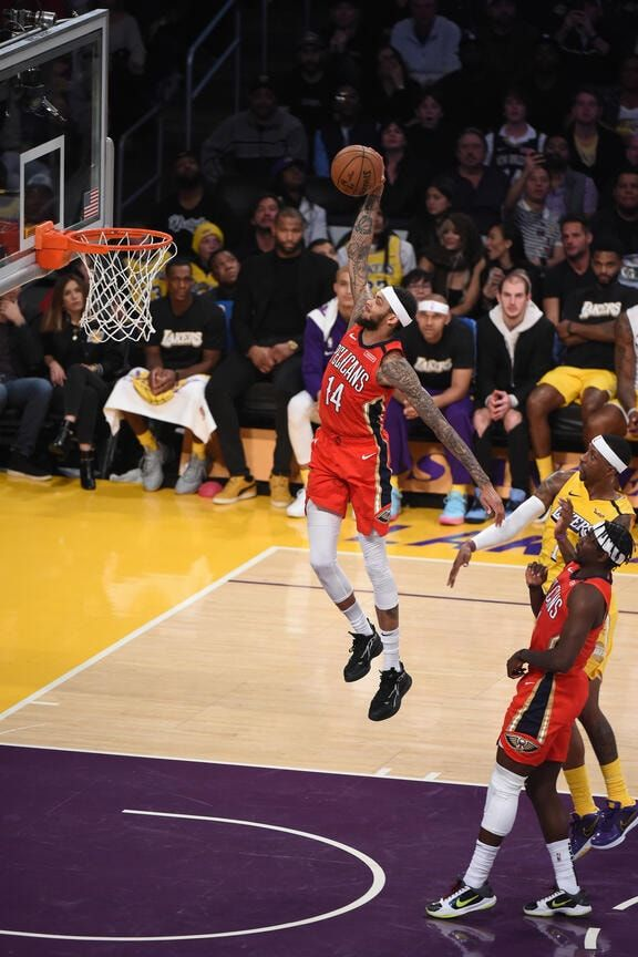 Pelicans At Lakers Game Action Photos 2019 20 Game 35 New Orleans Pelicans New Orleans Pelicans Lakers Game Pelican
