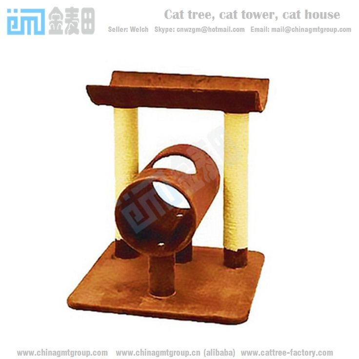GMT8127 cheap cat condos cat climbing post sisal cat tree from factory