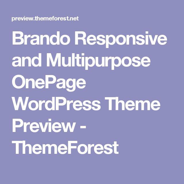 Brando Responsive and Multipurpose OnePage WordPress Theme Preview - ThemeForest