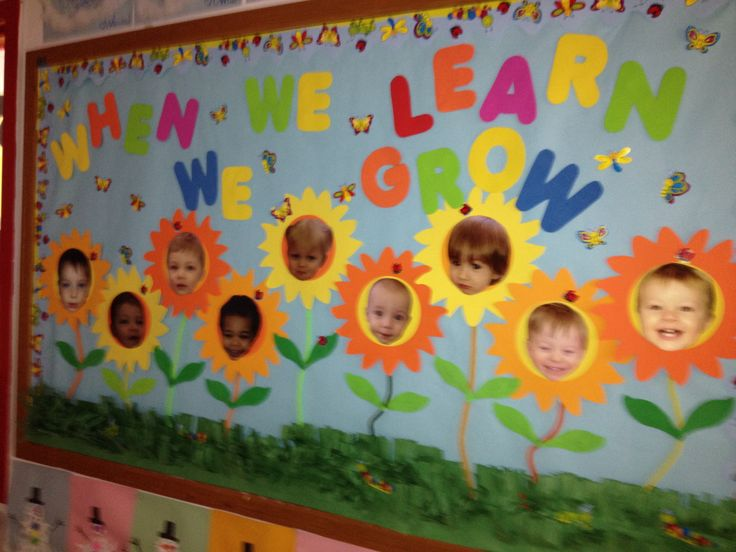 Spring Toddler Bulletin Board