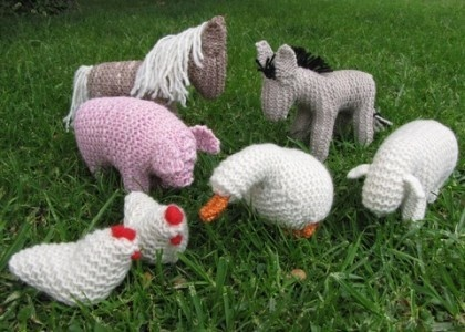 Cute knit animals
