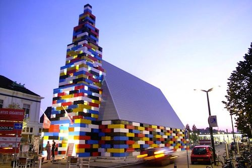 ha, I want to go to this church. They used concrete blocks that look like legos to construct it.