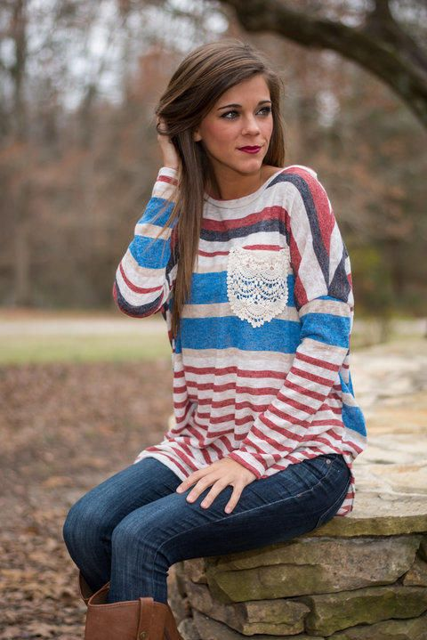 Always Stripe Top, Burgundy from The Mint Julep Boutique. Saved to tees. Shop more products from The Mint Julep Boutique on Wanelo.