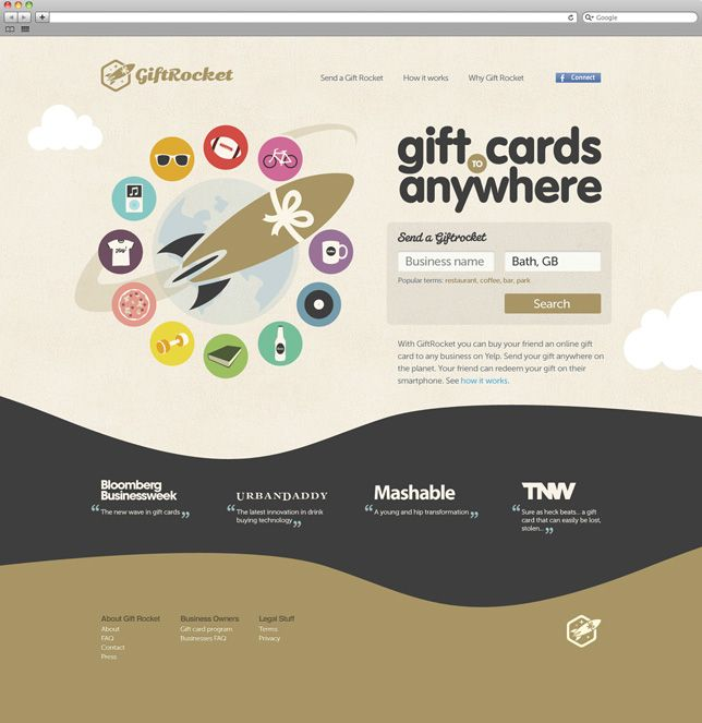 GiftRocket Homepage