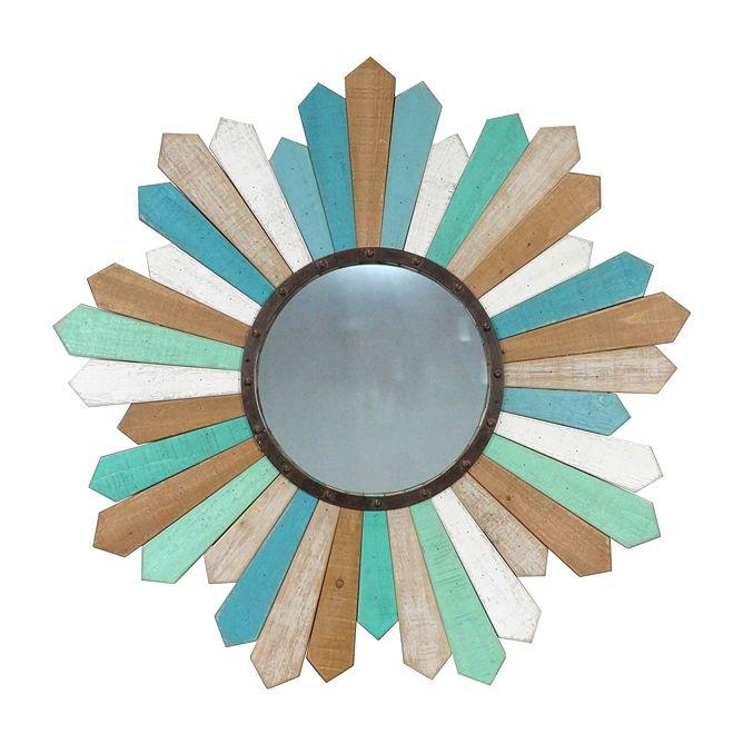 Espelho Sun Madeira 89 cm | A Loja do Gato Preto | #alojadogatopreto | #shoponline | referência 74068953