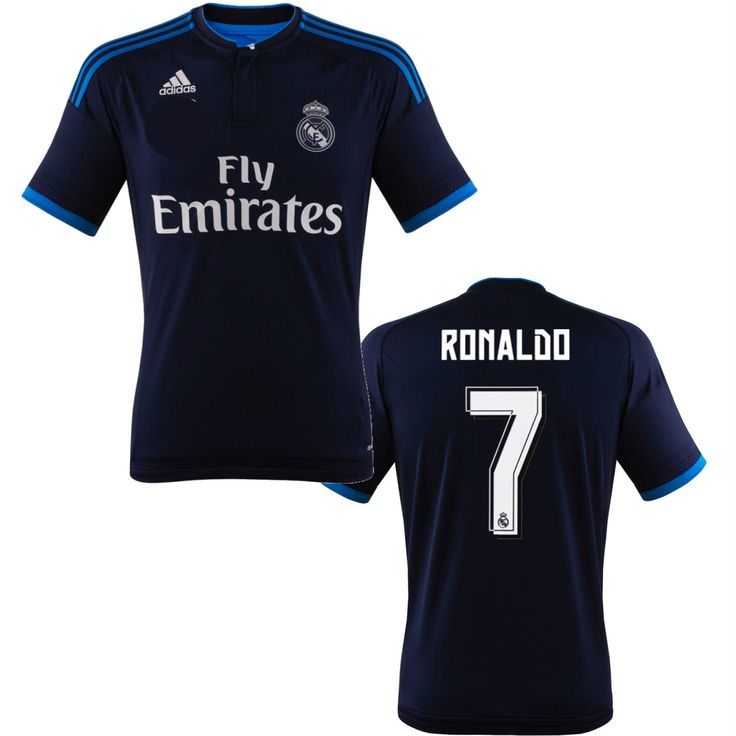 on sale 56d71 8dde1 2014 15 real madrid 7 ronaldo away blue soccer shirt kit