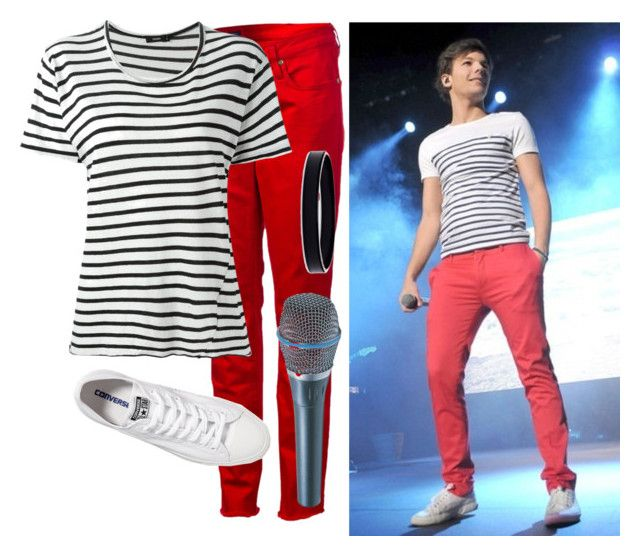 """louis tomlinson"" by amy-power666 ❤ liked on Polyvore featuring Quiksilver, Bassike, Converse and L. Erickson"