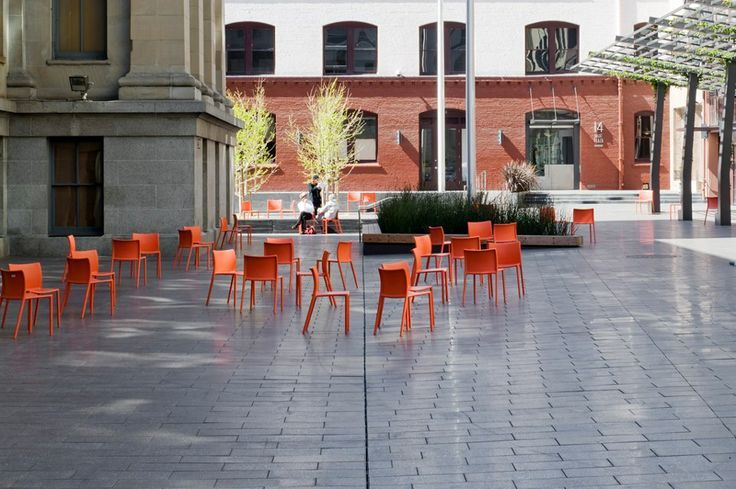magis air chair, mint plaza, orange chair