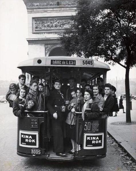 Good old days inside Arc de Triomphe, Paris, 1950s