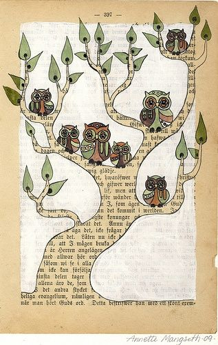 love this type of painting on an old book page.  great for inspiration