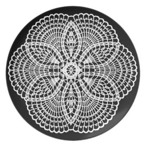 Doily Art Party Plates