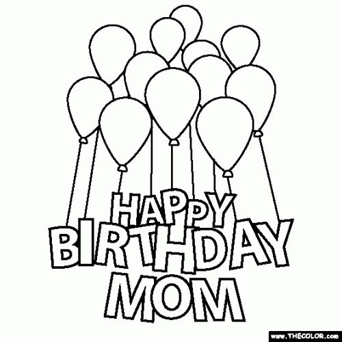 Coloring Pictures Happy Birthday Pages