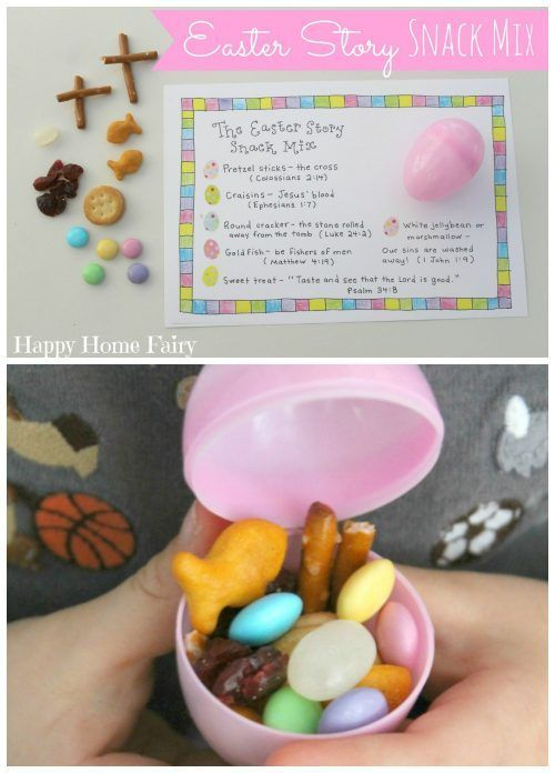 Easter Story Snack Mix and Free Sunday School Printables on Frugal Coupon Living.