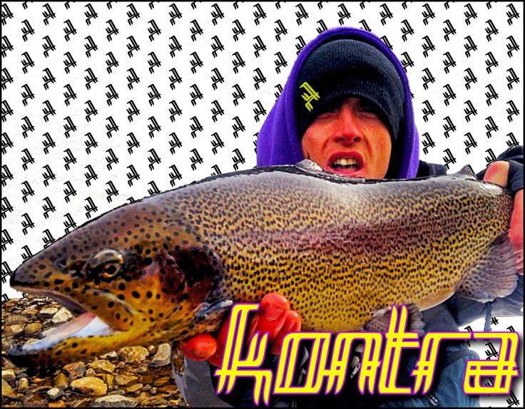 Giant Colorado rainbow caught by Kontra Team member Tren #kontra_apparel #flyfishing #fishing #colorado #winter #amazing