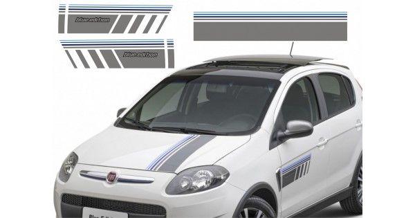 Adesivo Faixa Decorativa Lateral E Capo Blue Edition Fiat Palio