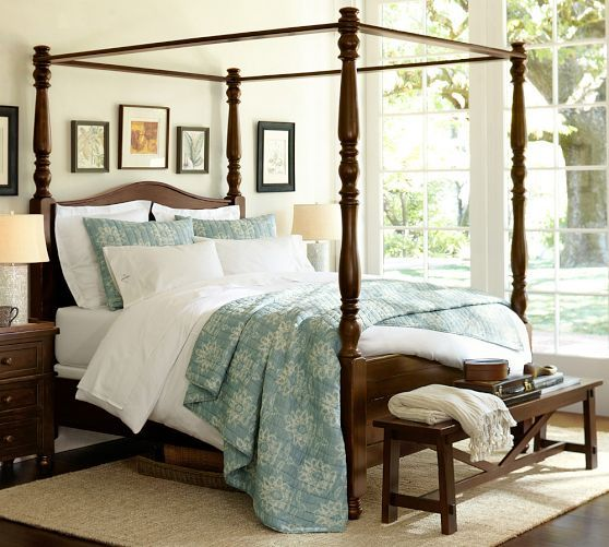 1000 Ideas About Wood Canopy Bed On Pinterest Canopy Beds Gray Headboard