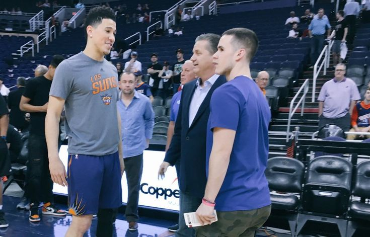 Caliparis attend Suns game as Devin Booker is honored for breaking franchise scoring record