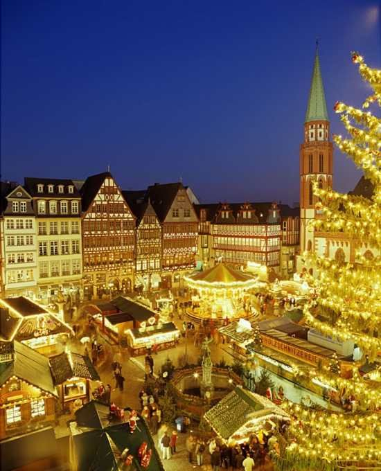 Markets of Europe at Christmastime selling their handicrafts of wooden toys, handmade candles, Christmas tree angels, wooden-enameled music boxes and the fragrance of european foods...