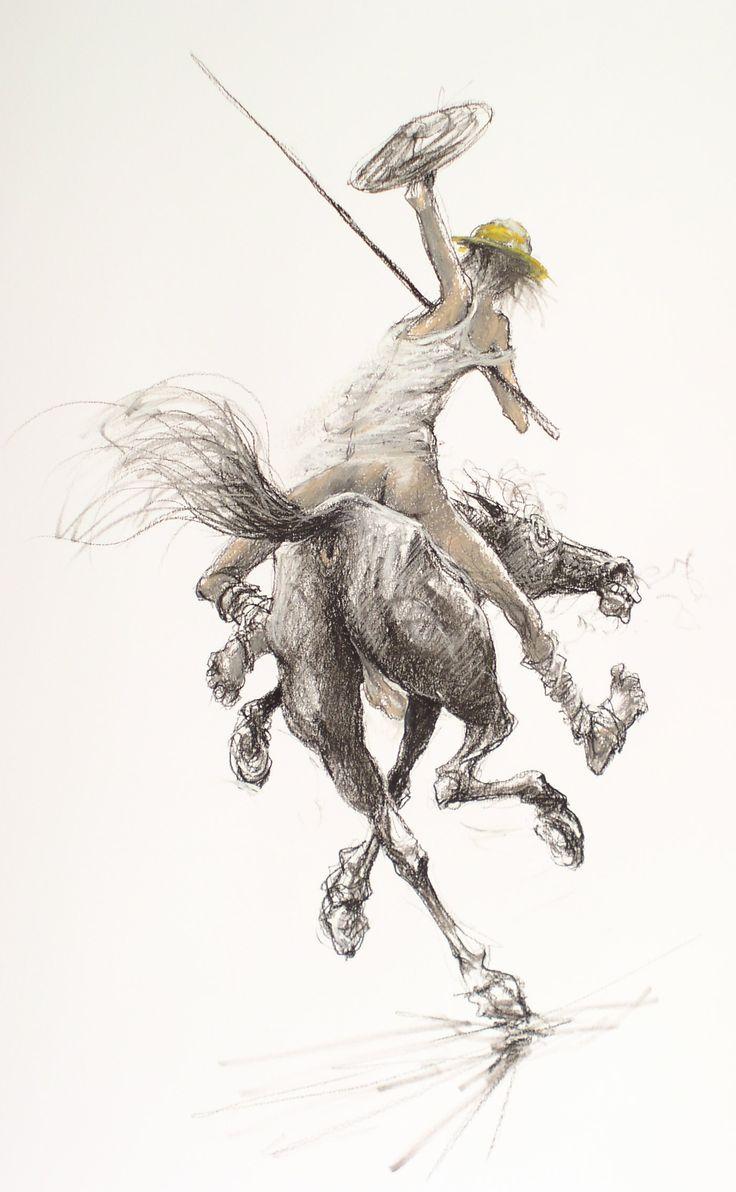 Marcel Nino Pajot   Don Quijote sous le grand moulin