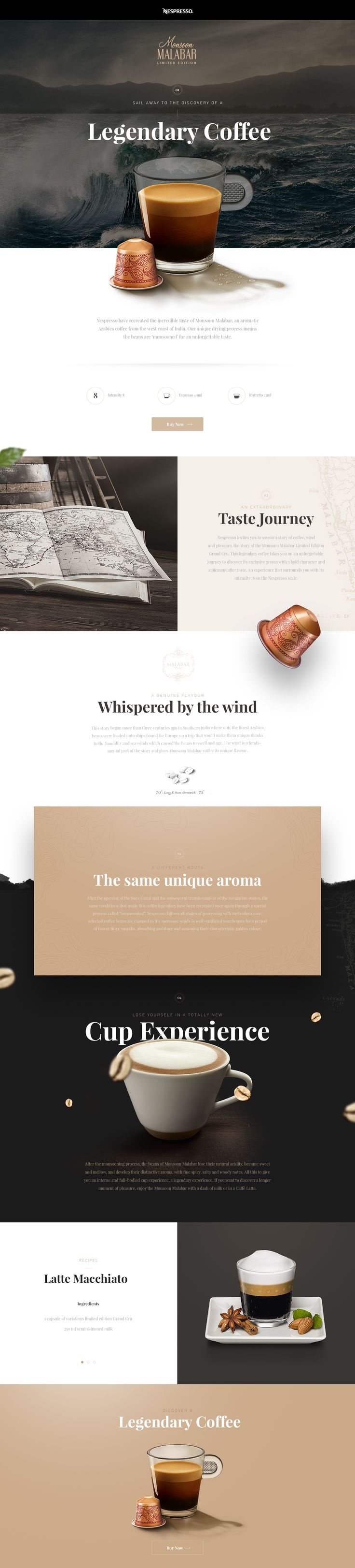 """Consultare la pagina di questo progetto @Behance: """"Nespresso Monsoon Malabar"""" https://www.behance.net/gallery/42748243/Nespresso-Monsoon-Malabar"""