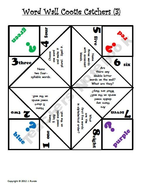10 best science cootie catchers images on Pinterest