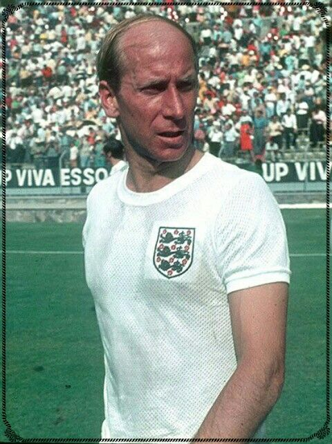 Bobby Charlton of England at the 1970 World Cup Finals.