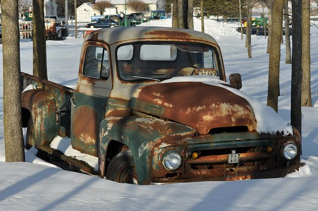 This looked like a truck we wanted chop and live all rust for our wedding ride badass