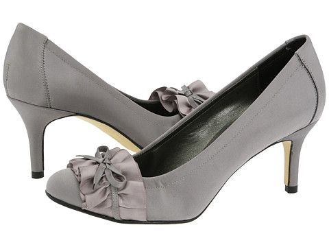 Vigotti Ulinda Pewter Satin mother of the bride shoes.