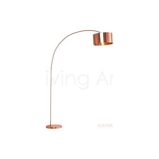 Lampa podłogowa Gooseneck Copper, kare design
