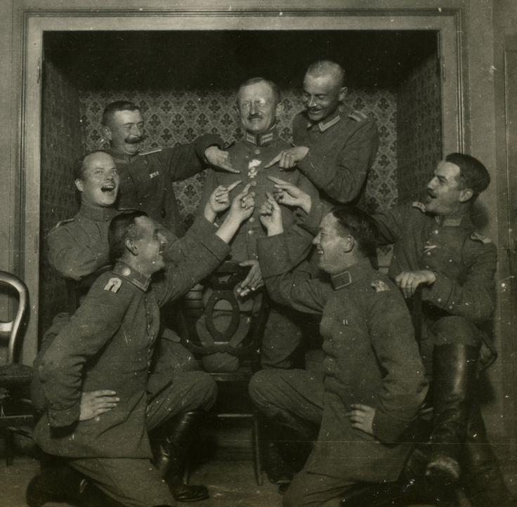 German soldiers having fun during the First World War
