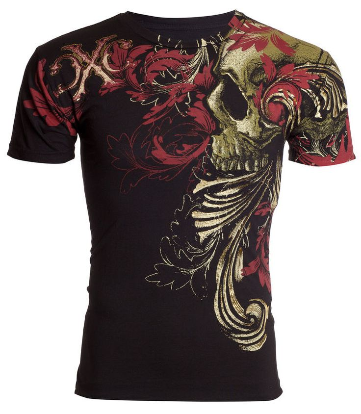 details about xtreme couture affliction mens t shirt telephus skull tattoo biker ufc s 4xl 40. Black Bedroom Furniture Sets. Home Design Ideas