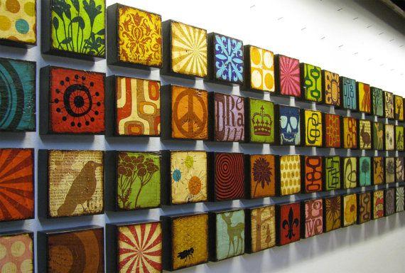 Block Painting by MatchBlox, $25.00Wall Art, Anna Painting, Painting Art, Mixedmedia Art, Matching Art, Matching Blox, Art Blox, Art Wall, Art Block