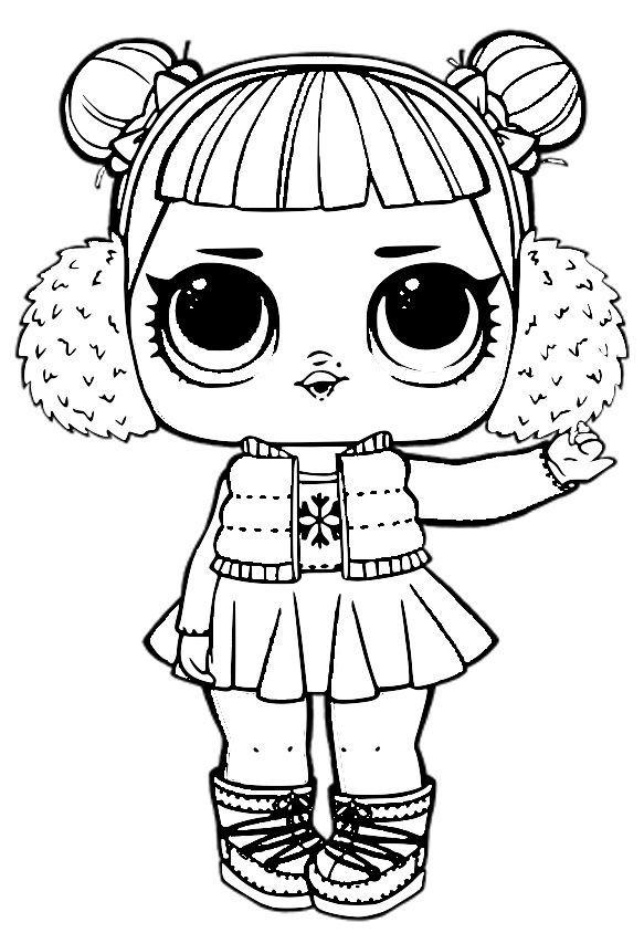 Znalezione obrazy dla zapytania lalka lol kolorowanka
