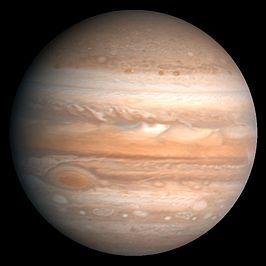 Jupiter gefotografeerd door een Voyager-ruimtesonde in 1979 (NASA)