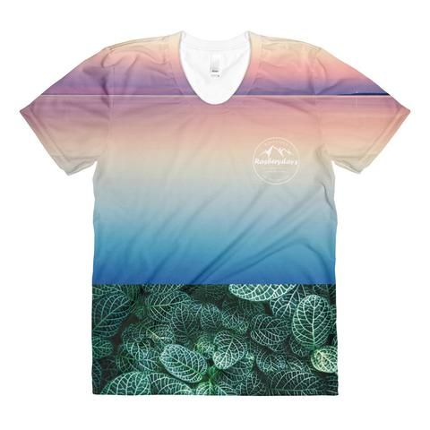 Ocean vs Forest Women's T-shirt  Colourful Womens T-Shirt Launched by Rasberydays    #t-shirt #DesignerClothing #Rasberydays #Yoga