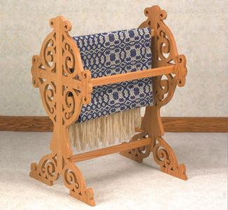"""Victorian Quilt Rack Scroll Saw Pattern This Victorian Quilt Rack stands 34"""" tall and holds 3 or more of your family's treasured quilts/blankets. #diy #woodcraftpatterns"""