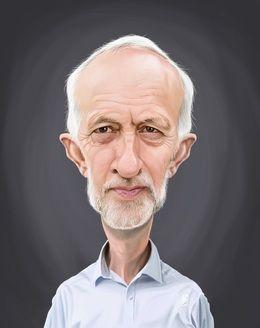 Jeremy Corbyn by robart at zippi.co.uk art | decor | wall art | inspiration | caricature | home decor | idea | humor | gifts